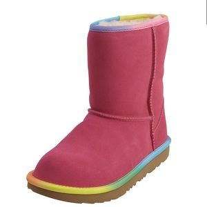 UGG rainbow 🌈 Pink Kids Sz 13